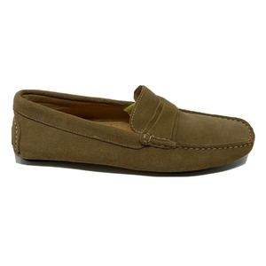 New Bacco Bucci Light Brown Suede Driving Loafer